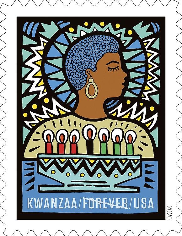 The U.S. Postal Service recently dedicated a new Kwanzaa stamp.
