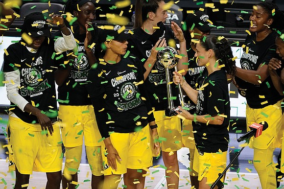 "Three time zones away, the Seattle Storm found home sweet home in ""The Bubble."""