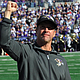 Baltimore Ravens head coach John Harbaugh is one of two head coaches to bring a championship to Charm City.