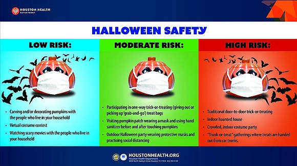 The Houston Health Department encourages people to forgo traditional trick-or-treating and Halloween gatherings this year in favor of safer alternatives. ...