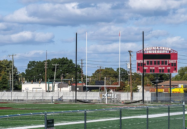 Virginia Union University's Willie Lanier Field at Hovey Stadium is new and green following a recent $1.1 million renovation. Mr. Lanier is seeking $50 million in donations to help renovate athletic fields at nearly three dozen HBCUs.