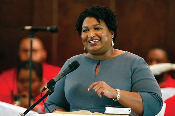Stacey Abrams, the former Georgia House minority leader who lost a razor-thin race for governor in 2018, voted on Oct. ...