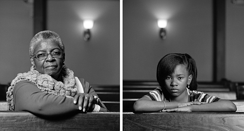 Dawoud Bey, Mary Parker and Caela Cowan, Birmingham, AL, from the series The Birmingham Project, 2012; Rennie Collection, Vancouver;