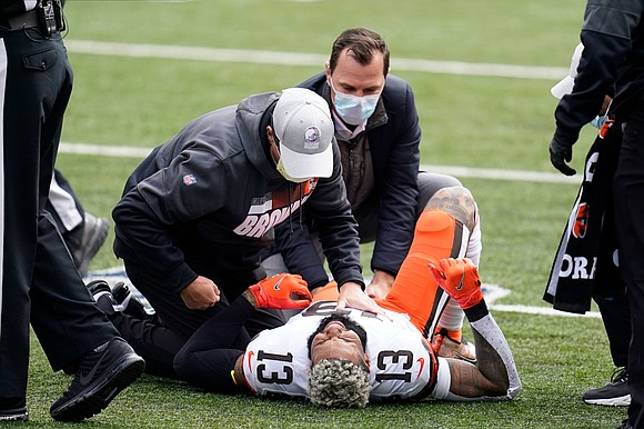 The injuries continue to pile up in the NFL. Cleveland Browns wide receiver Odell Beckham Jr. is the latest player ...