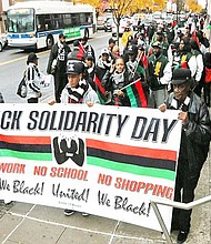 Black Solidarity Day march
