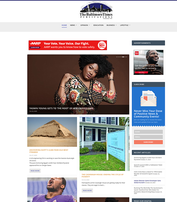 The Baltimore Times is launching a new website with a completely redesigned homepage, new features, and functionality to improve the ...