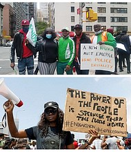 SARS protests in New York (TOP) and Nigeria