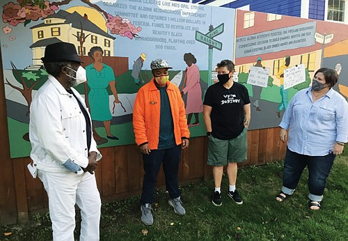 A panel of five murals depicting Black History in the Albina and Humboldt neighborhoods of north and northeast Portland is ...