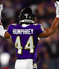 The Ravens placed star cornerback Marlon Humphrey on the COVID-19 reserve list on Monday, November 2 after the game against the Pittsburg Steelers the day before at M&T Bank Stadium in Baltimore.
