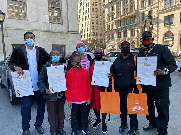 On Tuesday, Nov. 10, Brooklyn President Eric Adams hosted his second Brooklyn COVID Heroes ceremony outside Borough Hall.