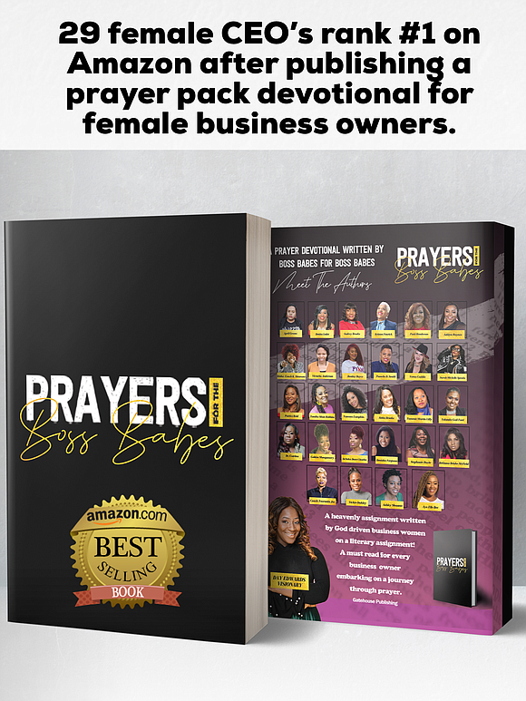 29 female CEO's Rank #1 On Amazon After Publishing A Prayer Pack Devotional For Female Business Owners.