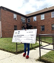 Morgan State University senior Diamond Patrick was also a Black & Positively Golden® Scholarship award winner.