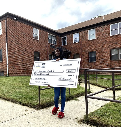 Morgan State University senior Diamond Patrick was also a Black & Positively Golden® Scholarship award winner.