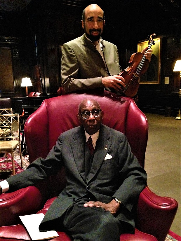 Pulitzer Prize-winning composer George Walker w his son, violinist Gregory Walker