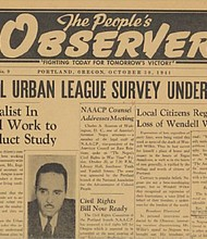 The People's Observer was an African American publication in Portland in 1944, led by William H. McClendon, a prominent member of Portland's civil rights community. Although McClendon was not involved, the Portland Observer today traces its roots to McClendon's original publication.