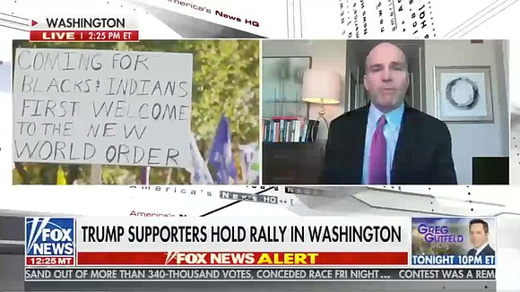 """One of the most alarming signs from the Nov. 14, 2020 """"Million Maggots March,"""" a.k.a. the """"MAGA March,"""" in Washington, ..."""