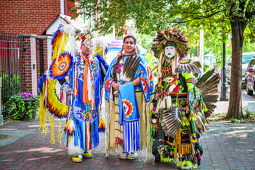 """Baltimore American Indian Center (BAIC) was the recipient of the 2017 Maryland Traditions Heritage Award in the category of """"Place."""" Originally founded in 1968 as the American Indian Study Center, it primarily served as a resettlement resource for Indians who had migrated to the city seeking employment. Now, the center functions as a cultural magnet drawing in a dispersed community by offering culture classes; annual powwows; a full-fledged community museum; a multipurpose meeting space; and more."""
