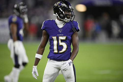 The Baltimore Ravens selected wide receiver Marquise 'Hollywood' Brown with the 25th overall pick in the 2019 NFL Draft.