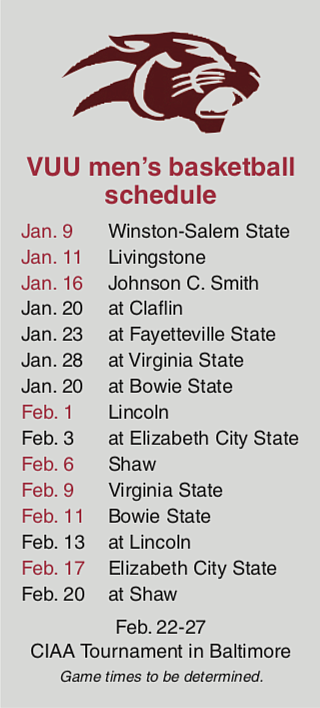Because of the pandemic, Virginia Union University will be playing a conference-only men's basketball schedule this season.