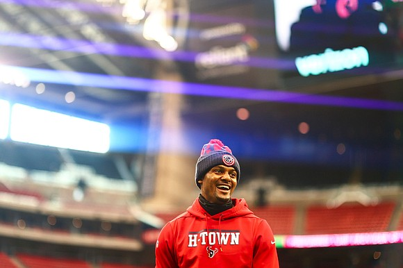 Houston Texans quarterback Deshaun Watson was named AFC Offensive Player of the Week by the NFL after Sunday's victory of ...