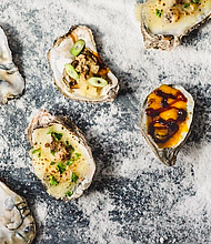 The Urban Oyster's famous chargrilled oysters include Cheese Louise, Teriyaki, and Volcano Oy.