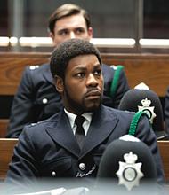 """John Boyega as Leroy Logan in """"Red, White, and Blue."""""""