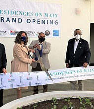 Grand opening of the Residences on Main located at 6901 S. Main Street in South Los Angeles.