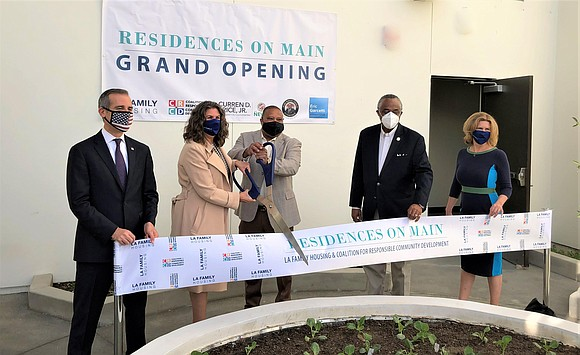 Officials from the County and City of Los Angeles celebrated the grand opening of Residences on Main recently...