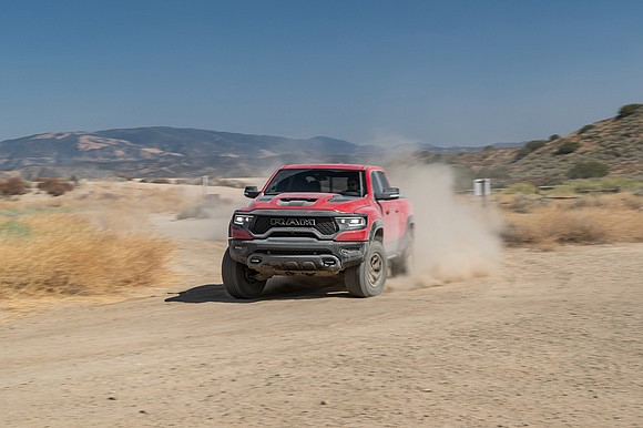 Fiat Chrysler's new 702-horsepower Ram 1500 TRX has been named the 2021 MotorTrend Truck of the Year.