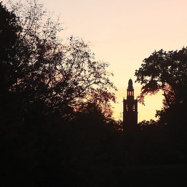 Sunset at The Carillon in Byrd Park
