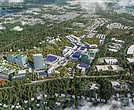 This rendering offers a view of the proposed $2.3 billion GreenCity development in Henrico County that would include a 17,000-seat arena. The 250- acre site, currently owned by the county, fronts East Parham Road and abuts interstates 95 and 295 about 4 miles north of the city line.