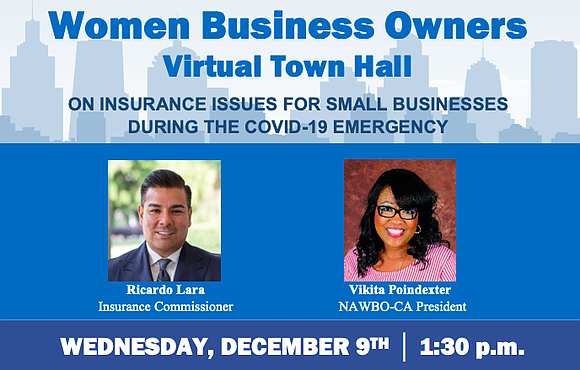 NAWBO-CA is hosting a virtual town hall on insurance issues for Women Business Owners during the COVID-19 pandemic emergency...