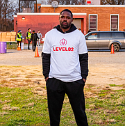 Former NFL wide receiver Torrey Smith stands outside Hilton Recreation Center, the site of BCRP's and LEVEL82's latest renovation project.