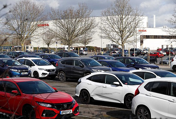 Honda has been forced to halt production at a major plant in England because parts deliveries have been delayed — ...