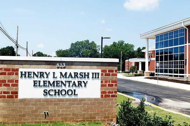 The new Marsh Elementary School