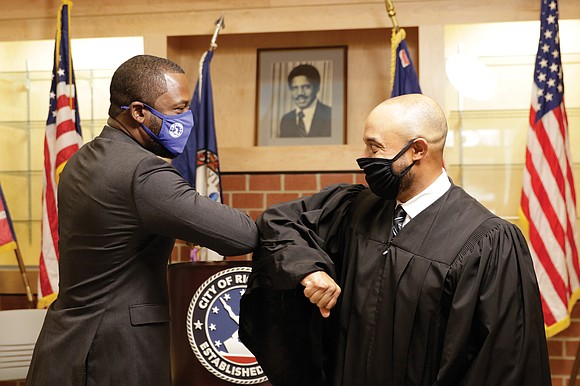 """Mayor Levar M. Stoney promised to listen more, engage the community in developing initiatives and push for """"justice and equity"""" ..."""
