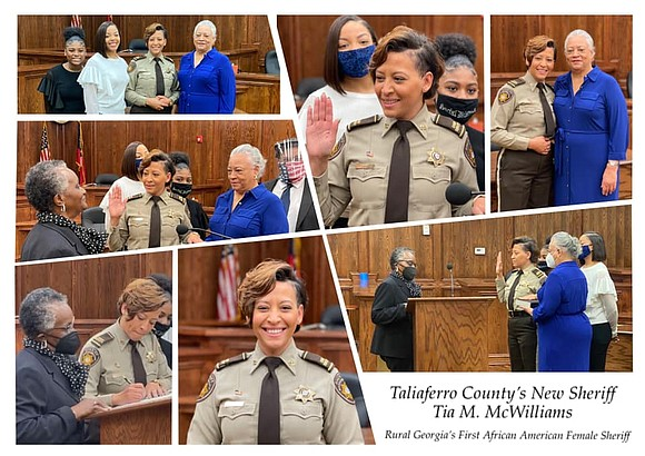 Tia McWilliams is the first Black sheriff in the Taliaferro County...