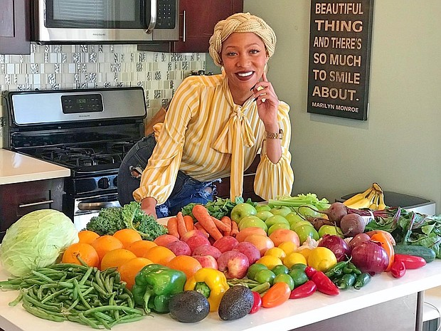"""AnDrea """"Fuzzy"""" Lyn Dixon created her brand to encourage people to eat more vegetables. Now, she has created the Eat Your Veggies Box, which delivers fresh produce straight to people's homes. Photo courtesy of AnDrea Lyn Dixon"""