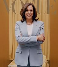 Kamala Harris on the cover of Vogue.