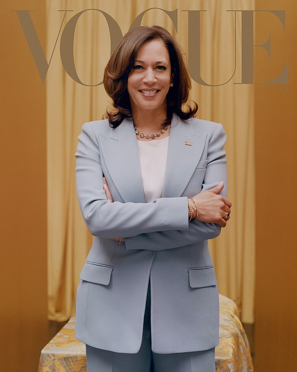California Senator Kamala Harris is gracing the cover of Vogue magazine...