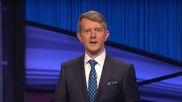 """Ken Jennings debuted as guest host on """"Jeopardy!"""" Monday, and opened the show with a tribute to the late Alex ..."""
