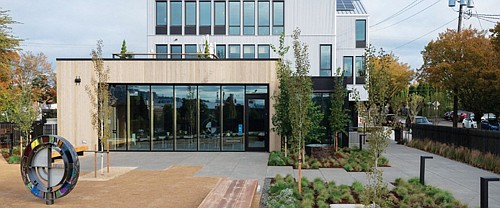 A new constructed headquarters for the Meyer Memorial Trust at 2045 N. Vancouver in the historically Black Albina community of north and northeast Portland opened this fall, a testament to the organization's  mission to create a transformative future in Oregon, one where there is more economic opportunity for people of color and less hate and injustice.