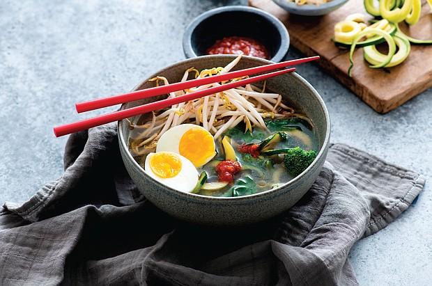Vegetarian Ramen Zoodle Bowl