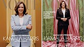The February issue of Vogue magazine's cover will show Vice President-elect Kamala Harris in a casual look, right, instead of the cover on the left that the Harris team approved.
