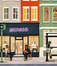Noisy Tenants, a local firm, which offers project management, program development, and media production services founded by Nicholas Mitchel and Chris Landrum opened Noisy Burger's now permanent stall at R. House located at 301 W 29th Street in the Remington neighborhood in Baltimore.