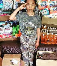 Tyler Stallings, 9, has a project called Give Back to Veterans. He has appeared on Little Big Shots, Good Morning America, and other shows. The talented youngster has helped veterans pay bills, fed those in crisis, and given away thousands of his 'Hero Bags' to thank them. The fourth grader is a 2016 President Barack Obama Service Award recipient. Congressman André Carson, who represents the 7th District of Indiana, later acknowledged Tyler by sending Congressional Recognition. Tyler became a GoFundMe Kid Hero in December of 2018, and an Orioles Birdland Community Hero in April of 2019, because of his work with the homeless in Baltimore and other parts of Maryland.