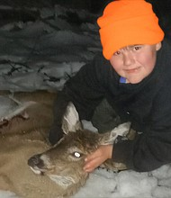 """William Duncan Swartz, and his mother, Lisa Latimer and his father, William W. Swartz are neighbors of Rosa Pryor and Shorty. We call him """"Little Billy."""" Last week, Little Billy turned eight-years-old and shot and killed his first deer with a muzzleloader in Boring, Maryland. We are so proud of him. Congratulations to you """"Little Billy,"""" well done, I'm waitng for my deer steaks."""
