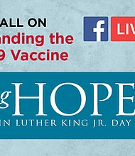 UMMS to Hold Virtual Town Hall on MLK Day on Jan. 18 th COVID-19 Vaccines To Be Discussed