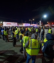 UNION Local 202 Hunts Point picket line