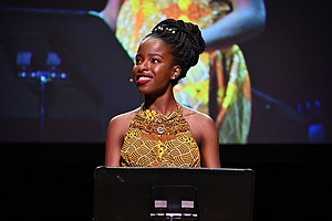 Amanda Gorman is a young poet that is part of the Biden-Harris inauguration. This file image shows Gorman speaking on stage on November 04, 2019 in New York City. Credit:Astrid Stawiarz/Getty Images for Together Live